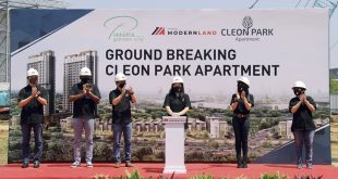PT Mitra Sindo Sukses Ground Breaking Cleon Park Apartment